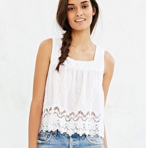 NWT Cope square neck eyelet top